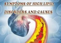 Symptoms of high lipid disorders and causes