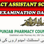 List candidates of 38th  Pharmacy Assistant Schedule  Annual Examination Date Sheet 2021