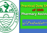 Pharmacy Asisstent practical annual exam 38 date sheet copy